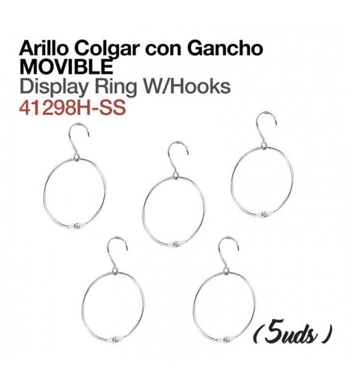 Arillo Colgador con Gancho Movible (5 Uds)