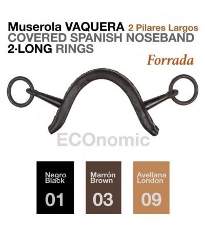 Muserola Vaquera Económica 2 Pilares Largos Forrada
