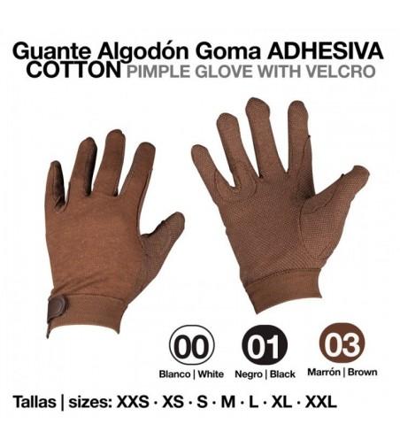 Guante Algodón Velcro Goma Adhesiva