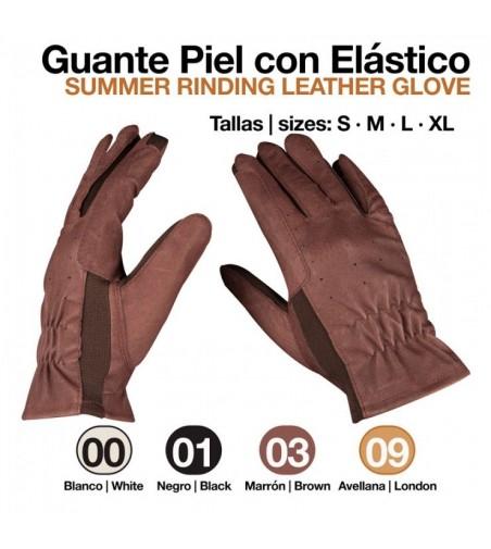 Guante de Piel con Elástico Unisex 411003