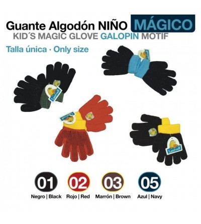 Guante Algodon Niño Galopin Magic