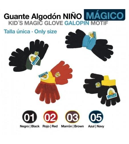 Guante Algodon Niño Galopin Magic