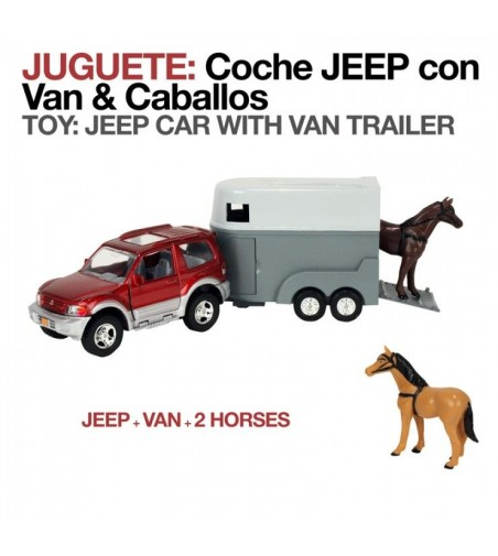 Juguete: Coche Jeep con Van 2195