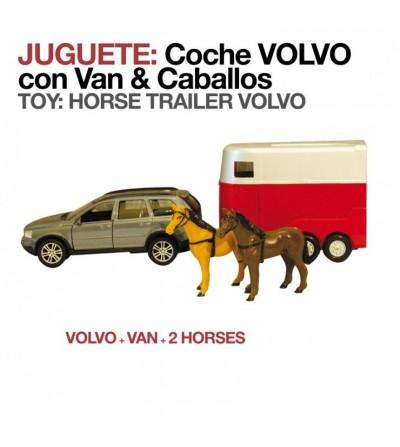 Juguete: Coche Volvo con Van y Caballos 2295