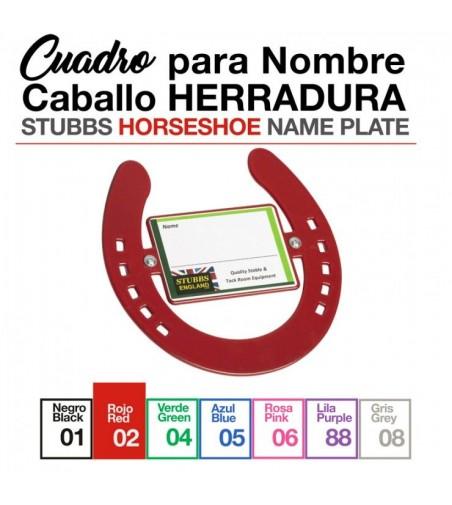 Cuadro Herradura para Nombre Caballo S670 Stubbs