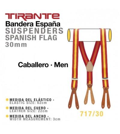 Tirante Bandera España Caballero 30 mm