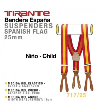 Tirante Bandera España Niño