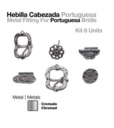 Hebilla Cabezada Portuguesa Cromadas (Set)