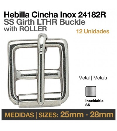 Hebilla Cincha Inoxidable (12 Uds)