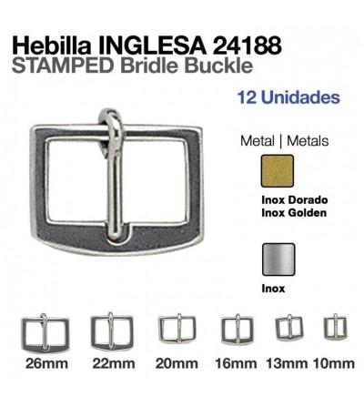 Hebilla Inglesa Inoxidable/Dorada 24188S (12 Uds)