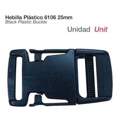 Hebilla Plástico 6106 25 mm Negra (Unidad)