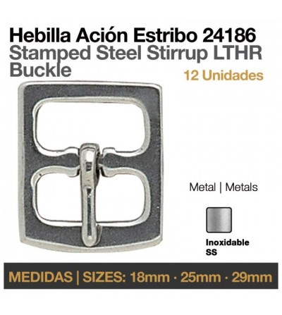 Hebilla Acion Estribo Inoxidable 24186
