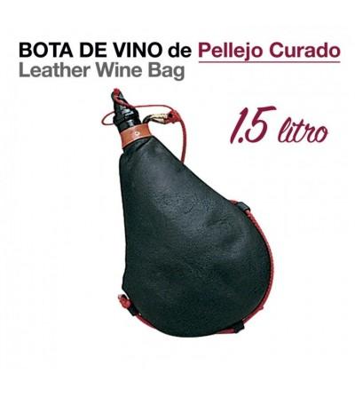 Bota de Vino Pellejo Curado 1.5 L