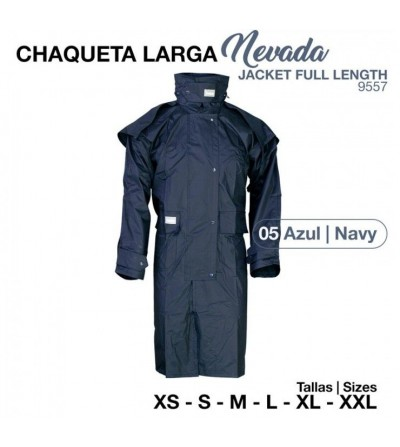 Chaqueta Larga Nevada 9557 Azul