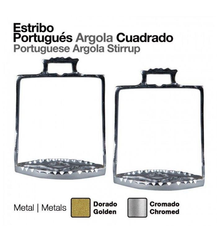 Estribo Portugués Árgola Cuadrado