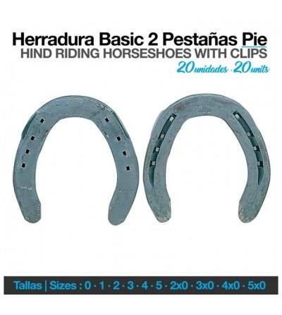 Herradura Basic 2 Pestañas Pie (20Uds)