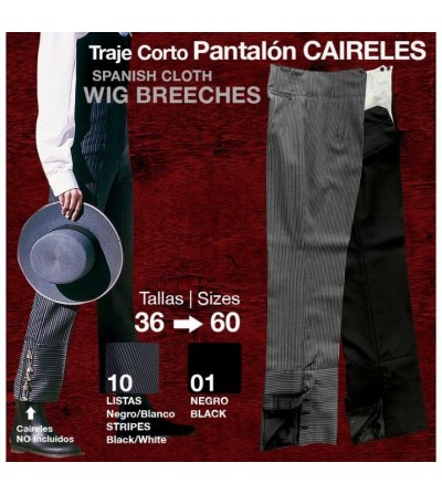 Traje Corto: Pantalón Caireles Negro/Listas