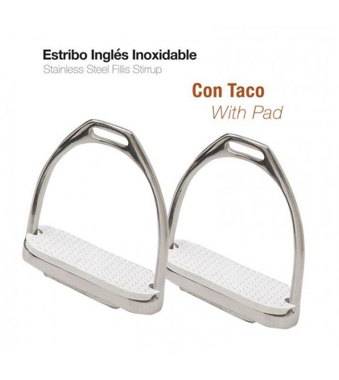 Estribo Ingles Inoxidable con Taco A01-14A