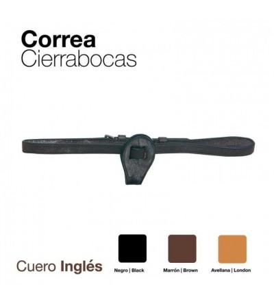 Correa Cierrabocas Cuero Inglés Deluxe