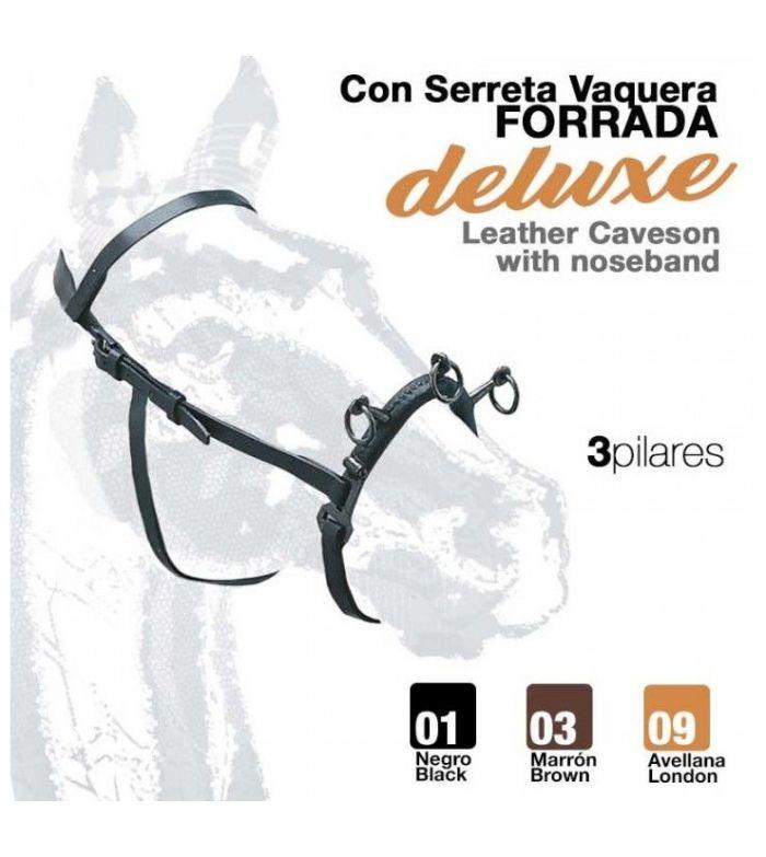 Cabezada Dar Cuerda con Serreta Vaquera Forrada 3 Pilares