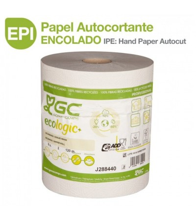 EPI: Papel Autocortante Encolado 2/C 120 metros