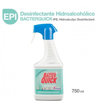 EPI: Desinfectante Hidroalcohólico Bacterquick Spray 750ml