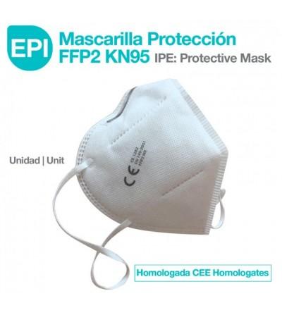 EPI: Mascarilla Protección FFP2 KN95 Homologada CEE 1ud