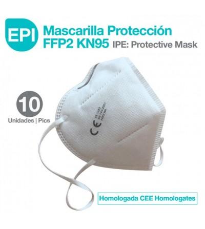 EPI: Mascarilla Protección FFP2 KN95 Homologada CEE 10 uds