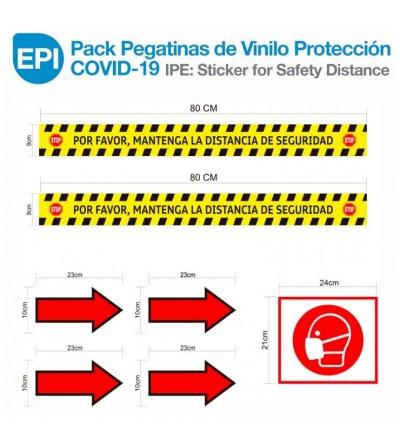 EPI: Pack Pegatinas de Vinilo Protección COVID-19