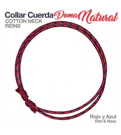 Collar de Cuerda para Doma Natural 44570 ROJO/AZUL
