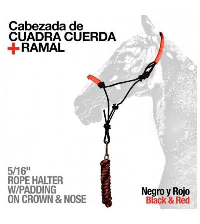 Cabezada de Cuada + Ramal 722730-9 Negro/Rojo