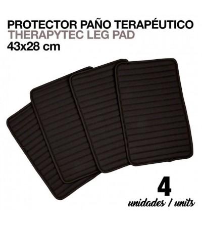 Protector Paño Terapéutico 43x28 cm Negro 4 Uds