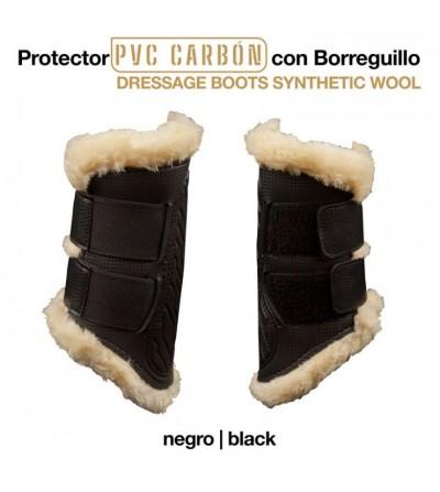 Protector Pvc Carbón con Borreguillo Negro
