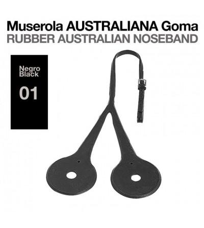 Muserola Australiana Goma Negro