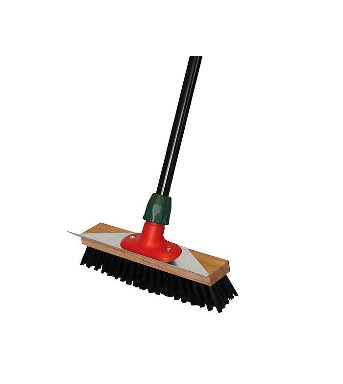 Cepillo Bümag para Establos con Recogedor de Metal y Mango Extensible.