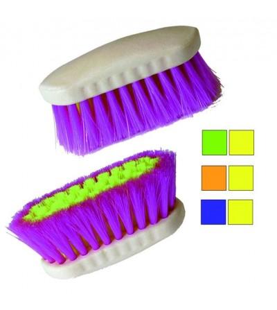 Cepillo Bicolor de Fibra Sintética Fluorescente
