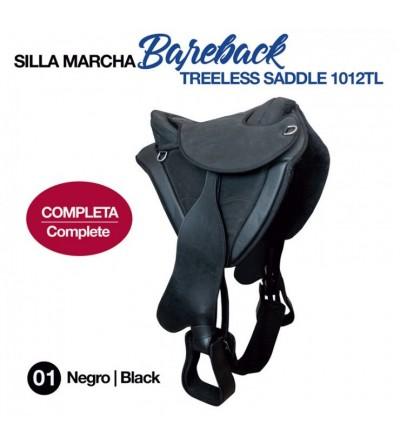 Silla Marcha Bareback New Completa Negra