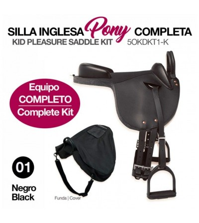 Silla Inglesa Pony Completa 5Okdkt1-K Negra