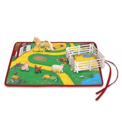 BREYER 5931/591055 - ROLL AND GO FARM ANIMAL PLAY SET (ANIMALES DE LA GRANJA)-Colección STABLEMATES