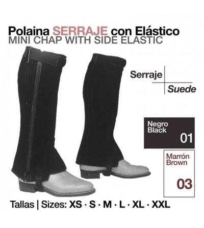 Polaina de Serraje con Elástico