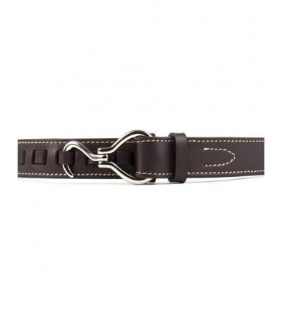 Cinturón Texas Cuero Marrón Hebilla Niquel
