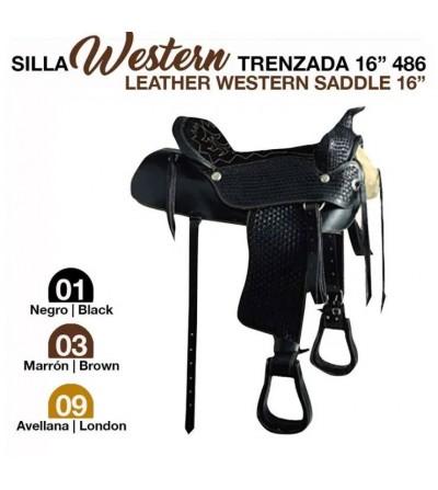 """Silla Western Trenzada 16"""" 486"""