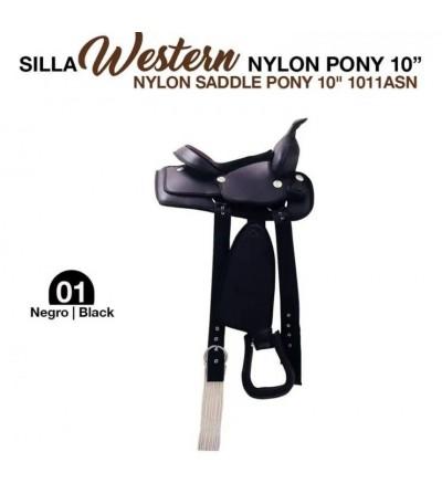 "Silla Western Nylon Pony 10"""