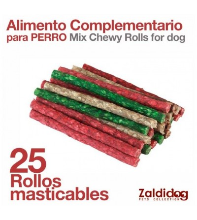 Perro Alimento Complementario Rollos Masticables 25uds
