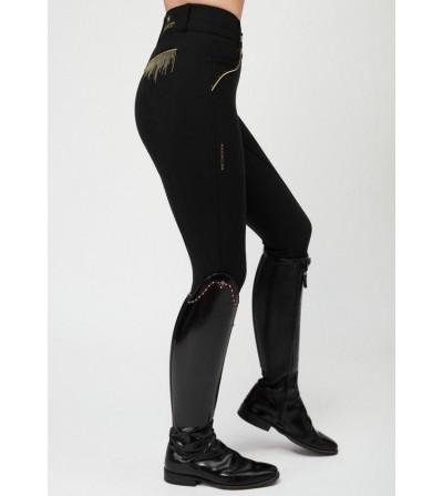 Pantalón de Montar Viena Mujer Negro/oro Maximilian