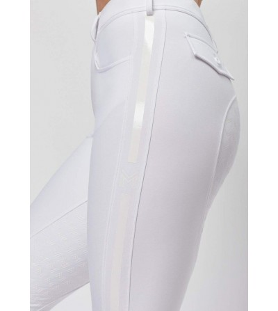 Pantalón de Montar Maximilian Reflectante Mujer Blanco