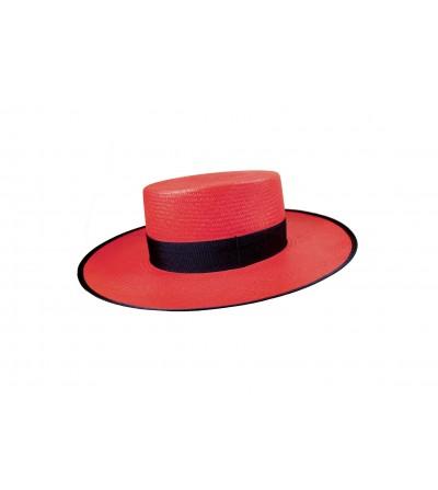 Sombrero Cordobés Cañero Pánama Rojo