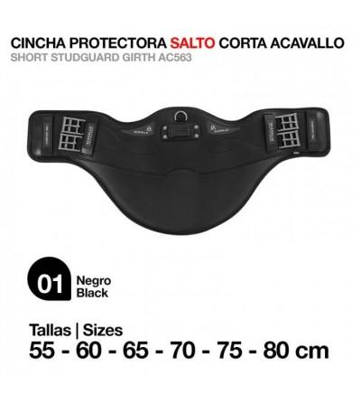 Cincha Protectora Salto Corta Acavallo AC563 Negro