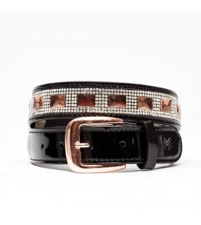 Cinturón Crystal Glam (Negro Brillante)