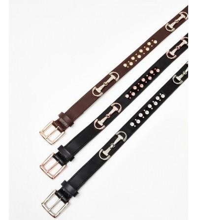 Cinturón Crystal con Destellos (Negro y Oro Rosado)
